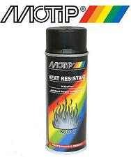 bombe spray peinture motip noir mat haute température 800° Ideal Moteur / pot