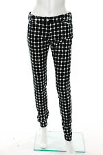 Balenciaga Black White Cotton Geometric Print Skinny Jeans Size FR 38 New 109421