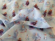 DISNEY Frozen Anna & Elsa Fabric. 100% Cotton material. PER METRE free ship