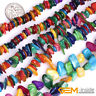 """Colorful Shell MOP Chips Gemstone Spacer Beads For Jewelry Making 15""""& 34""""Strand"""