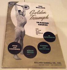 Vintage Rare Billard Barbell Training Course Bodybuilding Bodybuilder Muscle