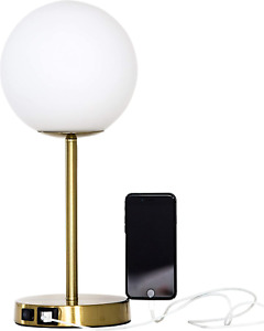 Table Lamp with USB Charging Ports - Table lamp for Bedroom, Living Room, Study,