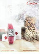 Publicité Advertising 028  2013  Cartier  nouvelle collection montre Tank anglai