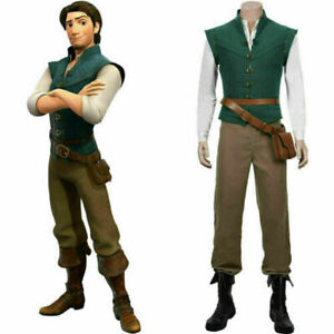 NEW Tangled-Flynn Rider Cosplay Costume Vest Shirt Outfit Carnival Halloween