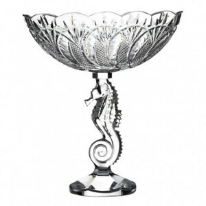 Waterford Crystal : Seahorse Centrepiece Bowl Height 25cm