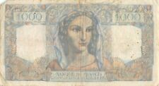 France   1000  Francs  12.9.1946  Series  H. 318  Rare  Circulated Banknote Me25