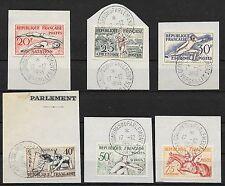 FRANCE JO HELSINKI N° 960/965 CACHET CONGRES DU PARLEMENT VERSAILLES 17-12-53