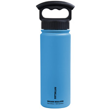 Fifty/Fifty 18oz BLUE Insulated Stainless Steel Water Bottle 3 Finger Lid
