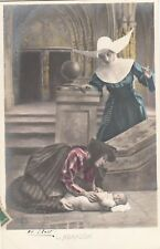 Carte postale ancienne FANTAISIE ENFANT ABANDON abandonné religieuse