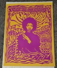 Rare Hendrix Seattle 1988 Rocky Awards Silk Screen poster