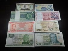 1989 - 1993 South America Currency Lot of 8 Bills - Brazil Argentina Haiti more