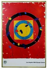 """Sam Francis 1984 Los Angeles Olympic Poster 24""""x36"""" ORIGINAL Abstract Expression"""