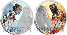 STAR WARS: THE RISE OF SKYWALKER - REY & KYLO - 2 X 1 OZ. SILVER COINS - OGP COA