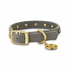 Bond & Co. Jeweled Gray Suede Dog Collar Size Small Extra/Small