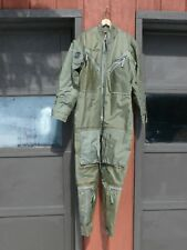 "Vietnam 1969 US Air Force 'Named"" F-4 PILOT FLYING COVERALLS Rubberized Sz Large"