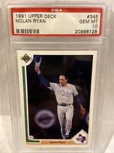 1991 Upper Deck Nolan Ryan #345 PSA 10
