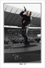 * BONO * Signed poster of U2 star! Great as memorabilia or gift, large size!