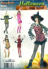 Simplicity Pattern 0802/2324 Indian Lady Bug Witch Bee Go-Go Girl Size XS-XLG
