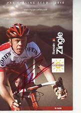 carte cycliste ROMAIN ZINGLE (cofidis) 2010 signée