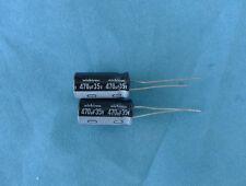 100PCS Nichicon 35V 470UF Electrolytic Capacitor 10X20mm  mj