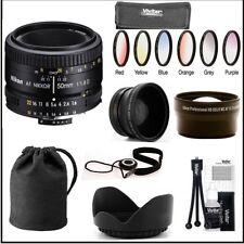 Nikon 50mm F/1.8D AF Lens ( Import - White Box) + Wide Angle Lens & 2x Lens Kit