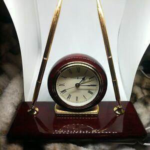 Howard Miller Rosewood Desk  Clock, New #613-588 - Retail $190