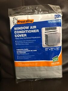 "Frost King AC5 Window Air Conditioning cover 28"" x 20"" x 30"" Grey outdoor"