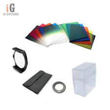62mm Lens Ring Adapter + 10pcs Square Color Filters Box Kit for Cokin P series