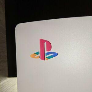 5 X PlayStation 5 PS5 Sticker logo Decal Retrò underbody adesivo PS1 colors