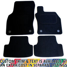 For Seat Leon MK3 2013+ Fully Tailored 4 Piece Black Car Mat Set with 4 Clips