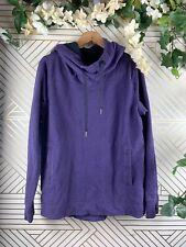 LULULEMON Split Hoodie Pullover Heathered Black Grape Size 10/12