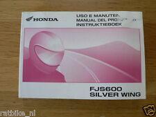 HONDA FJS600 SILVER WING INSTRUKTIEBOEK ORIGINAL 2001 MANUAL,USO E
