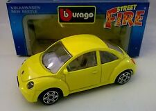 BURAGO STREET FIRE 1:43 DIE CAST VOLKSWAGEN NEW BEETLE GIALLO 4142 MADE IN ITALY