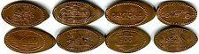 Daytona Speedway & Bike Week Collection Of Eight Copper Souvenir Pressed Pennies
