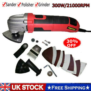 ELECTRIC 300W MULTI TOOL FUNCTION OSCILLATING SANDER CUTTER SCRAPER GRINDER SET
