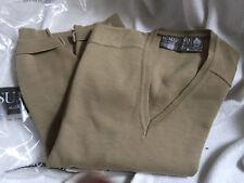 Homme 100% laine vierge beige pull par Sumerland fabriqué en jersey taille M