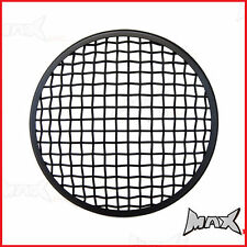 7 INCH Matte Black Mesh Headlight Stone Guard Metal Insert Protector