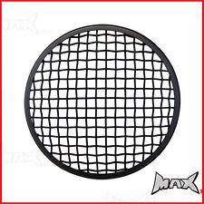 "5 3/4 INCH - 5 3/4"" Matte Black Mesh Metal Headlight Cover Guard Insert"
