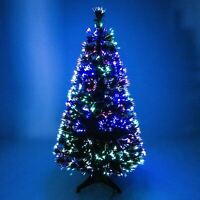 4ft Pre Lit Christmas Tree LED Fibre Optic Lights Xmas Decoration