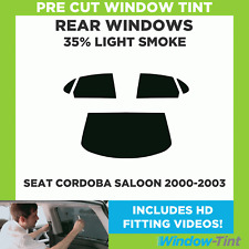 Pre Cut Window Tint - SEAT Cordoba 4-door Saloon 2000-2003 - 35% Light Rear