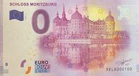 BILLET 0  EURO  SCHLOSS MORITZBURG ALLEMAGNE  2017  NUMERO 100