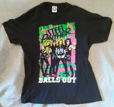 More details for medium m 2012 steel panther uk tour balls out t shirt heavy metal band starworld
