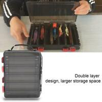PP Large 10 Compartment Fishing Lure Box Tackle Double-Side Bait Storage Case