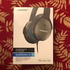 Bose QuietComfort 25 Acoustic Noise Cancelling Wired Headphones Black, Apple iOS