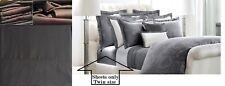 Ralph Lauren Twin 3-pc Dunham Sateen 300tc Sheet Set Charcoal Gray 100% Cotton