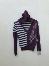 Vans Of The Wall Women's Clorblocked Hooded Cardigan - Medium - Purple - New