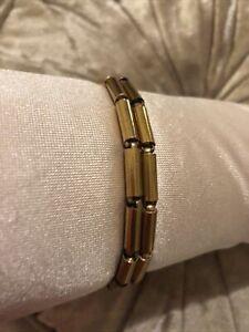 Vintage 1920 Gold Tone Roll On Sleeve Holders Garter Armband Peaky Blinders (g)