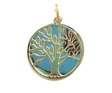 "NEW Yellow Gold Ion Plated 316L Surgical Stainless Steel ""Tree Of Life"" Pendant"