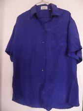 Vintage SARA ROBERTS 1980's Purple  silk Top Shirt Blouse Sz Large