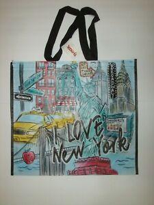 New TJ Maxx Large Shopping Tote Bag Reusable Bag I Love New York New York Theme